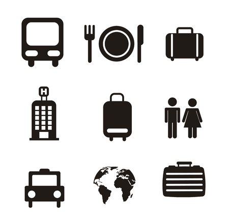 travel icons isolated over white background. vector illustration Stock Vector - 16123961