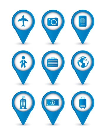 travel business icons isolated over white background. vector Stock Vector - 16123974