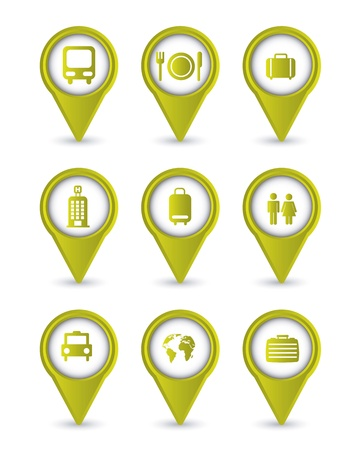 travel icons isolated over white background. vector illustration Stock Vector - 16123957