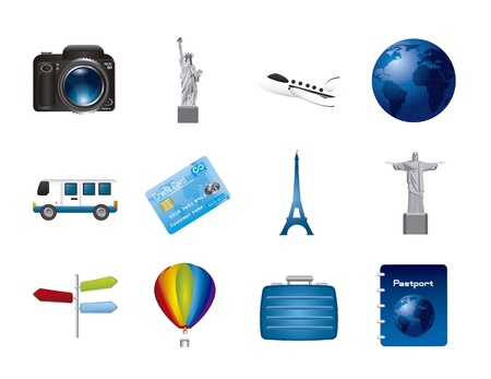 travel icons isolated over white background.vector illustration Stock Vector - 16124622
