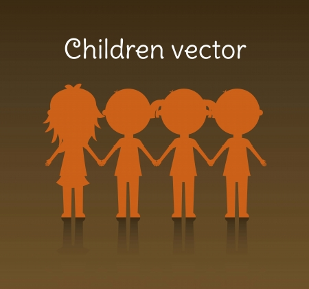happy group children, team. vector illustration Stock Vector - 16123933