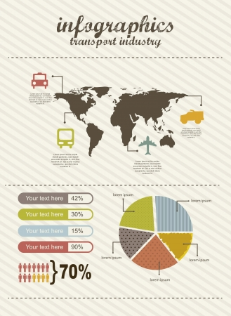 infographics of travel, vintage style. vector illustration Stock Vector - 16287951