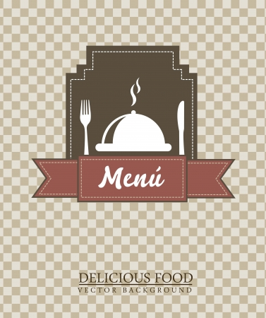 menu template over squares background. vector illustration Vector