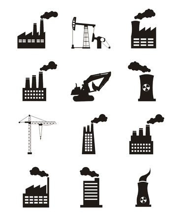 industry icons over white background. vector illustration Stock Vector - 16287371