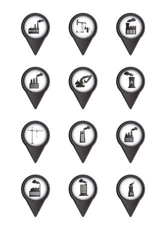 industry icons isolated over white background. vector illustration Stock Vector - 16287376