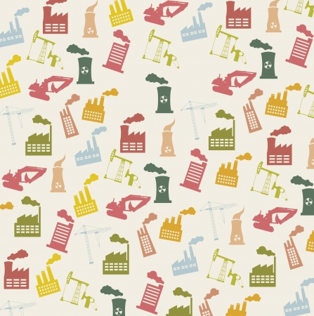 industry icons over beige background, vintage. vector illustration Stock Vector - 16287493