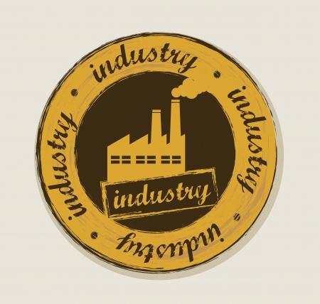 grunge industry label over beige background. vector illustration Stock Vector - 16288063