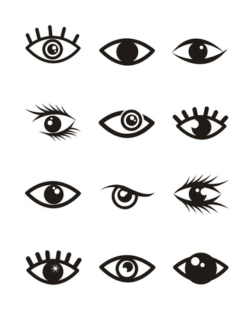 ojos iconos sobre fondo blanco. ilustración vectorial