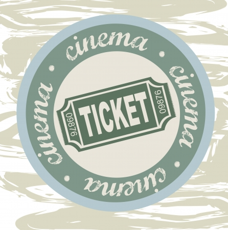 stub: ticket seal over grunge background. vector illustration