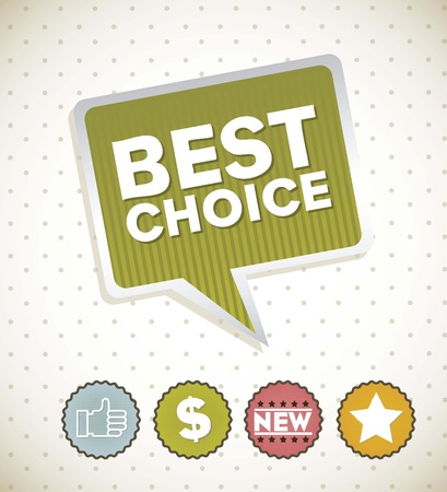 happyhour: best choice label with signs over vintage background. vector Illustration