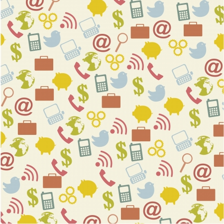 communication icons over vintage over background. vector Stock Vector - 16289514