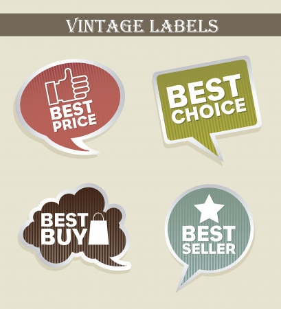 vintage labels over beige background. vector illustration Vector