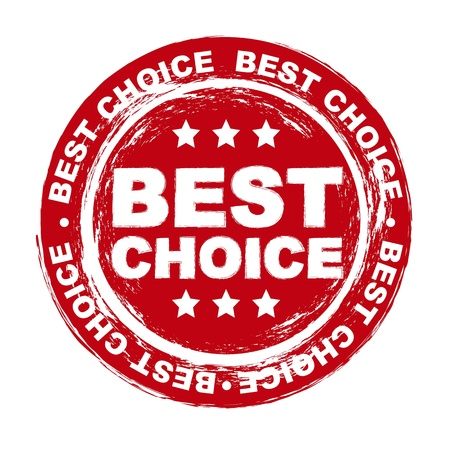 office product: best choice stamp over white background. vector illustration