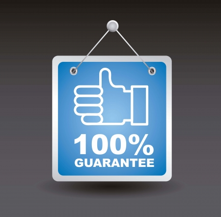 guarantee label with good sign. vector illustration Vector