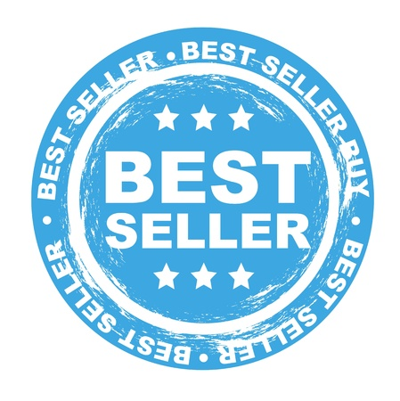 best seller stamp over white background. vector illustration