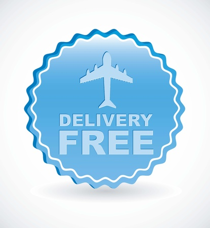 delivery free label over white background. vector illustration Vector