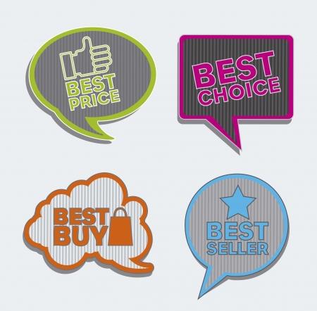 vintage labels over gray background. vector illustration Stock Vector - 16287919