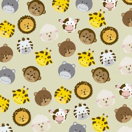 animal icons over beige background. vector illustration Vector