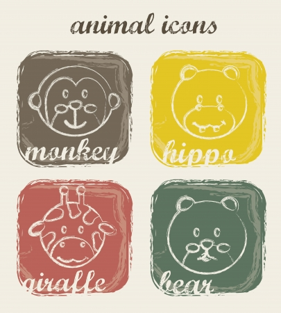 animal icons over beige background. vector illustration Stock Vector - 16290325