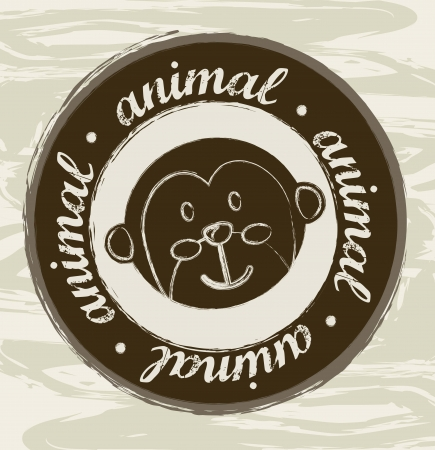 animal seal over grunge background. vector illustration Vector