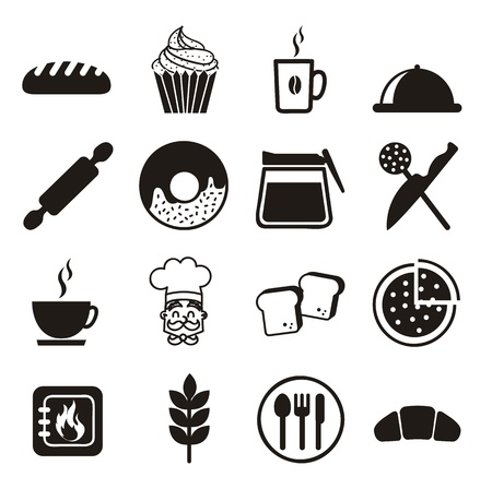 bakery icons over white background. vector illustration Vector
