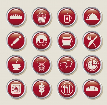bakery icons over beige background. vector illustration Stock Vector - 16287790