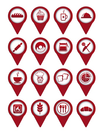 bakery icons over white background. vector illustration Stock Vector - 16287727