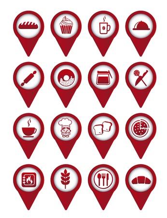 rolling bag: bakery icons over white background. vector illustration Illustration