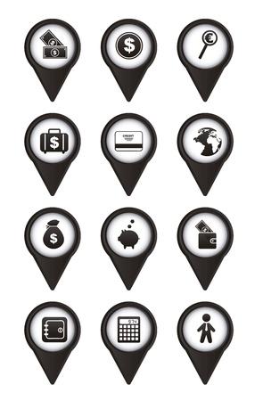 burning money: money icons over white background. vector illustration