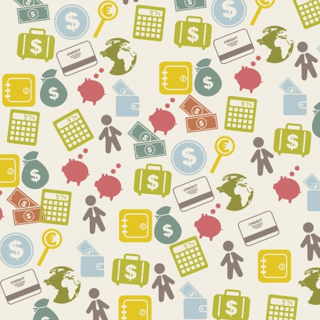 money icons over beige background. vector illustration Stock Vector - 16288629
