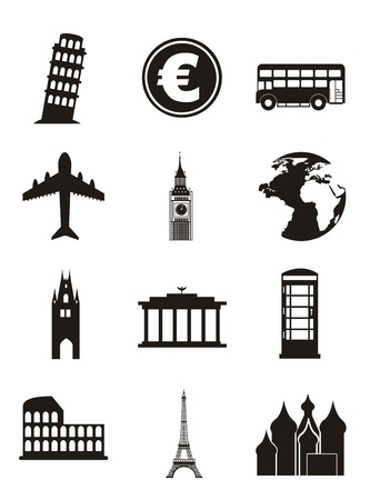 europe icons over white background. vector illustration Stock Vector - 16287880
