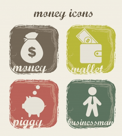 money icons over beige background. vector illustration Stock Vector - 16287269