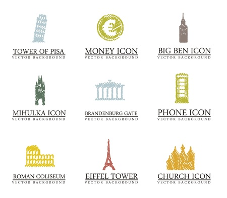 europe icons over white background. vector illustration Stock Vector - 16288649