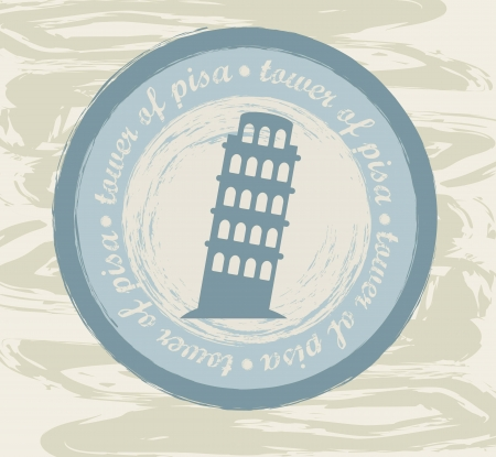 tower of pial seal over grunge background. vector illustration Vector