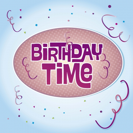 Birthday message, color and party Stock Vector - 16290054