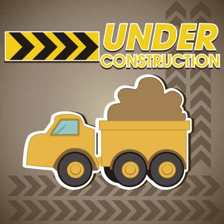 wheeled tractor: Construction, truck transporting sand