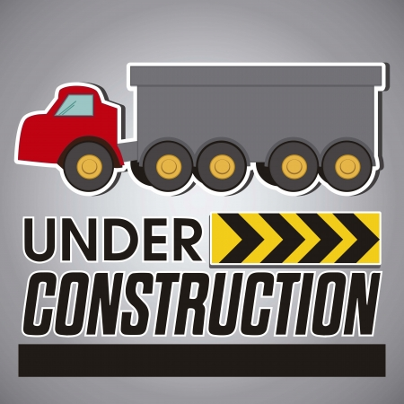 Construction Icons, red truck Vector