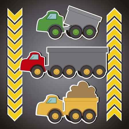 banner and  transportation trucks Vector
