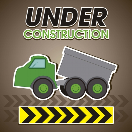 land development: under construction, green truck
