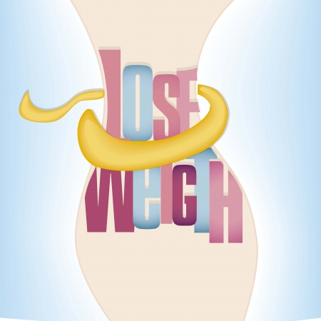 lose weight: body calories care Illustration