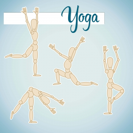Set of yoga and fitness Vector