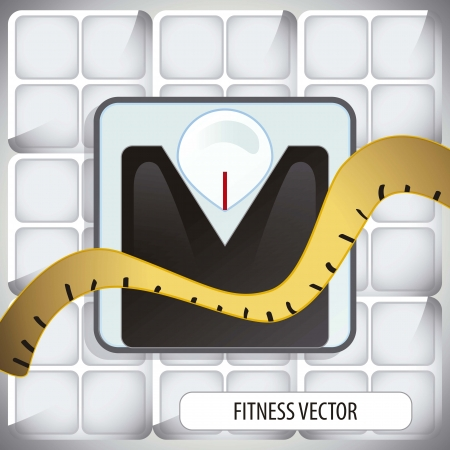 Vector fitness icon Vector