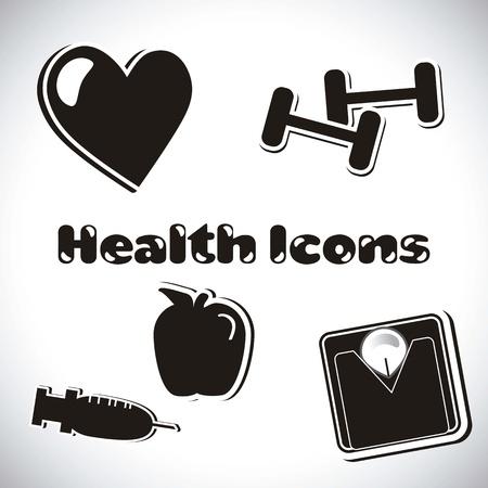 health icons Stock Vector - 16287957