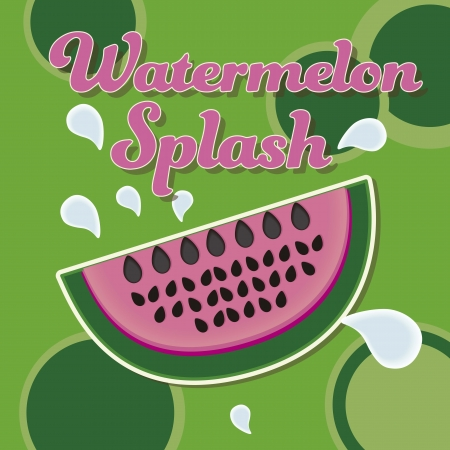 Watermelon on green background Stock Vector - 16288760