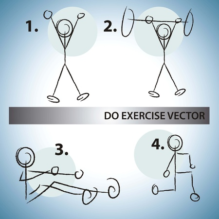 Fitness Icons Do Exercise Vector Vector