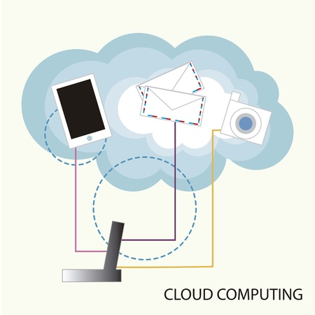 Cloud computing functions Stock Vector - 16287565