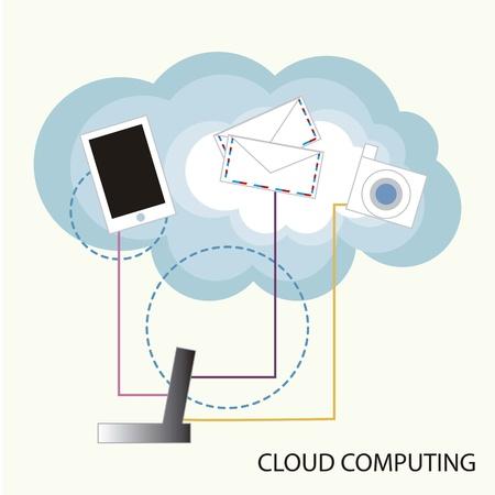 Cloud computing functions Stock Vector - 16287565