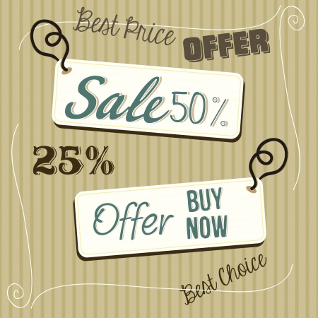 Sale labels offers Vector