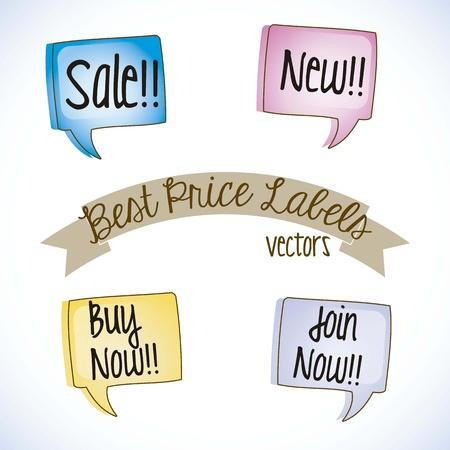 conversing: Sale Labels, best price Illustration