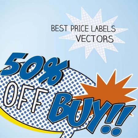 bomb price: Sale comics labels Illustration